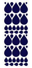 Load image into Gallery viewer, NAVY BLUE RAINDROP WALL STICKERS