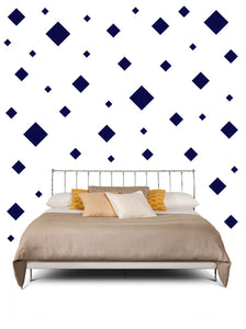 SQUARE WALL STICKERS IN NAVY BLUE