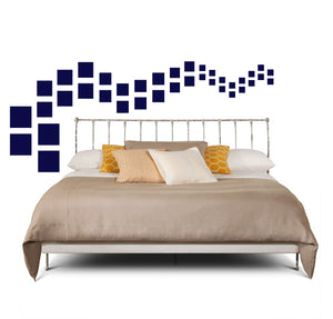 SQUARE WALL DECALS IN NAVY BLUE