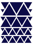 NAVY BLUE TRIANGLE WALL DECALS