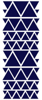 NAVY BLUE TRIANGLE STICKERS