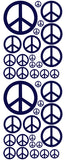 NAVY BLUE PEACE SIGN DECAL