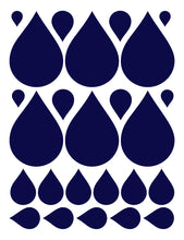 Load image into Gallery viewer, NAVY BLUE RAINDROP WALL DECALS