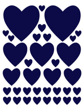 Load image into Gallery viewer, NAVY BLUE HEART WALL DECALS