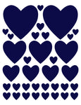 NAVY BLUE HEART WALL DECALS