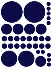 Load image into Gallery viewer, NAVY BLUE POLKA DOT WALL DECALS