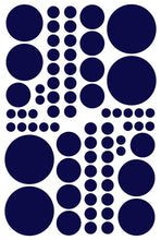 Load image into Gallery viewer, NAVY BLUE POLKA DOT DECALS