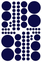 NAVY BLUE POLKA DOT DECALS