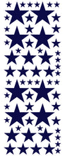Load image into Gallery viewer, NAVY BLUE STAR DECALS