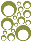 OLIVE GREEN BUBBLE DECALS
