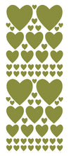Load image into Gallery viewer, OLIVE GREEN HEART WALL STICKERS