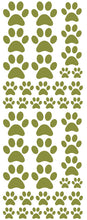 Load image into Gallery viewer, OLIVE GREEN PAW PRINT DECALS