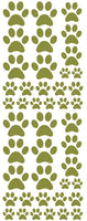 OLIVE GREEN PAW PRINT DECALS