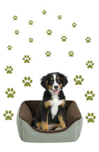 Load image into Gallery viewer, OLIVE GREEN PAW PRINT STICKERS
