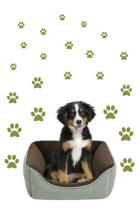 OLIVE GREEN PAW PRINT STICKERS