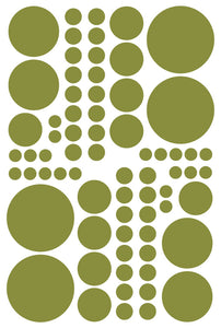 OLIVE GREEN POLKA DOT DECALS