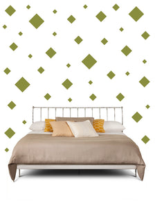 SQUARE WALL STICKERS IN OLIVE GREEN