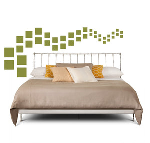 SQUARE WALL DECALS IN OLIVE GREEN