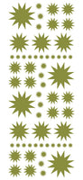 OLIVE GREEN STARBURST WALL STICKERS