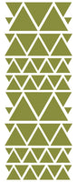 OLIVE GREEN TRIANGLE STICKERS