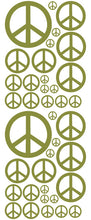 Load image into Gallery viewer, OLIVE GREEN PEACE SIGN DECAL