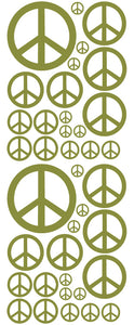 OLIVE GREEN PEACE SIGN DECAL