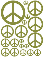 Load image into Gallery viewer, OLIVE GREEN PEACE SIGN WALL DECAL