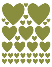 Load image into Gallery viewer, OLIVE GREEN HEART WALL DECALS