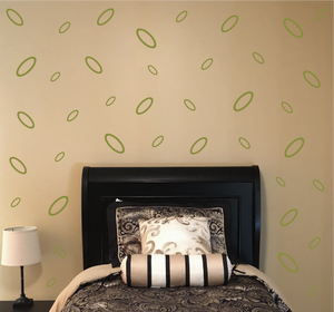 OLIVE GREEN OVAL WALL DECOR