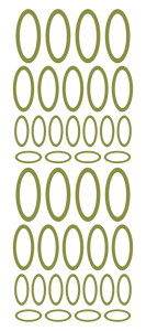 OLIVE GREEN OVAL WALL STICKERS