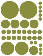 Load image into Gallery viewer, OLIVE GREEN POLKA DOT WALL DECALS