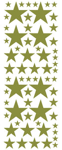 OLIVE GREEN STAR DECALS