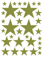 OLIVE GREEN STAR WALL DECALS