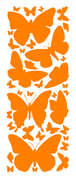 ORANGE BUTTERFLY WALL DECALS