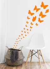 Load image into Gallery viewer, ORANGE BUTTERFLY WALL STICKERS