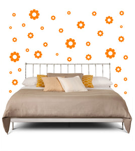 ORANGE DAISY DECALS