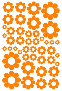 ORANGE DAISY STICKERS