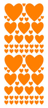 Load image into Gallery viewer, ORANGE HEART WALL STICKERS