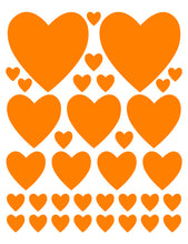 Load image into Gallery viewer, ORANGE HEART WALL DECALS