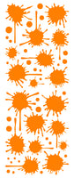 ORANGE PAINT SPLATTER DECAL