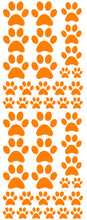 Load image into Gallery viewer, ORANGE PAW PRINT DECALS