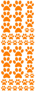 ORANGE PAW PRINT DECALS