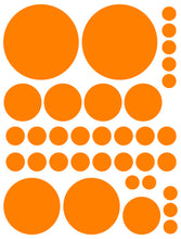 Load image into Gallery viewer, ORANGE POLKA DOT WALL DECALS