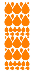 ORANGE RAINDROP WALL STICKERS