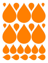 Load image into Gallery viewer, ORANGE RAINDROP WALL DECALS