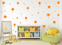 Load image into Gallery viewer, ORANGE PAINT SPLATTER WALL STICKER
