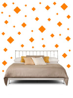 SQUARE WALL STICKERS IN ORANGE