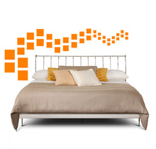 Load image into Gallery viewer, SQUARE WALL DECALS IN ORANGE
