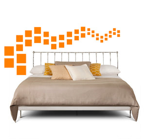 SQUARE WALL DECALS IN ORANGE