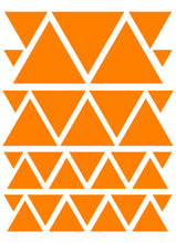 Load image into Gallery viewer, ORANGE TRIANGLE WALL DECALS